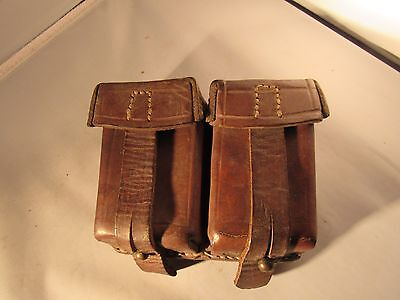 Vintage Army Military Ammo Pouch...Leather...Great Vintage Condition