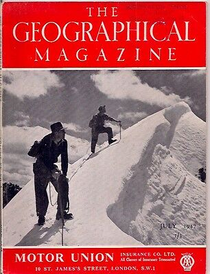 the geographical magazine-JULY 1947-CLIMBING MOUNT VICTORIA.
