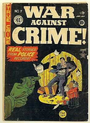 War Against Crime #7 (1949) Good 2.0 ~ Johnny Craig ~ Crime ~ EC Comics