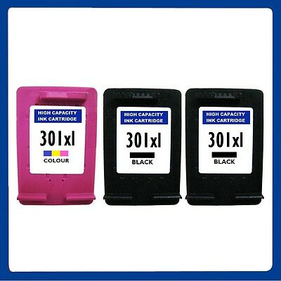 3 Ink Cartridge Replace For HP 301XL ENVY 4500 4502 4504 5530