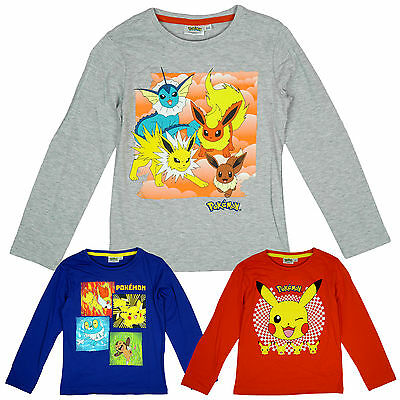 De Niño Oficial Pokemon Eevee Evolutions Camiseta de manga larga Top 4A 12 años