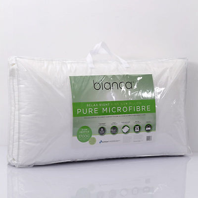 BIANCA Relax Right Microfibre King Pillow Non Allergenic Pillow  90 x 50cm NEW