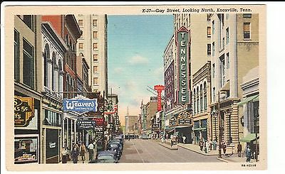 1940's Gay Street, Looking North in Knoxville, TN Tennessee PC