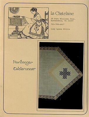 Hardanger Tablerunner La Chatelaine Embroidery Pattern - 30 Days to Shop & Pay