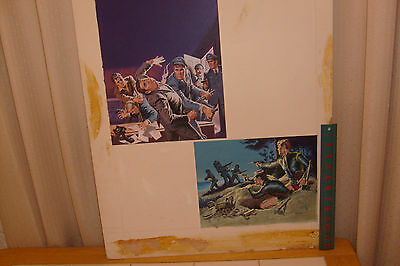 EARL NOREM PAINTING: illustration: TWO PANELS USED ON COVER OF A MEN'S MAGAZINE