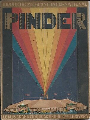 Cirque PINDER Hippodrome Géant International - 1930 -