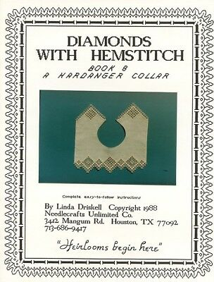 Diamonds with Hemstitch Linda Driskell Hardanger Collar Pattern Book 8