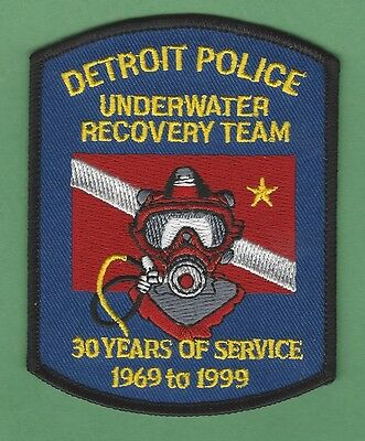 Detroit Michigan Police Dive Recovery Team Patch