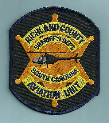 Richland County Sheriff South Carolina Police Helicopter Air Unit Patch
