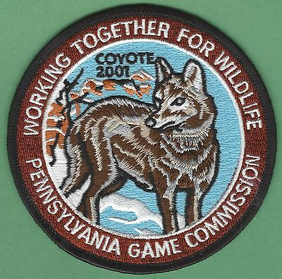 Pennsylvania Game Commission 2001 Coyote Series Wildlife Hunting Patch