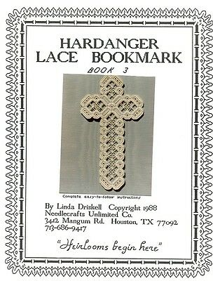 Hardanger Lace Bookmark Linda Driskell Pattern Book 3 - 30 Days to Shop & Pay