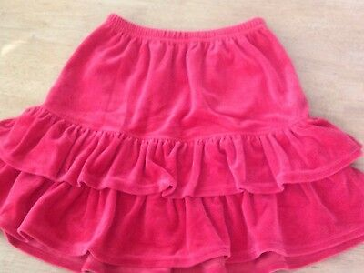 Red Velour Hanna Andersson Skirt, Size 130, EUC