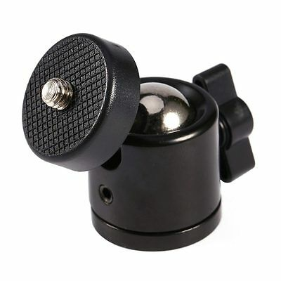 "Pro 360 Swivel Ball Head Bracket Holder for 1/4"" Screw Mount Tripod DSLR Camera"