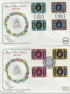 "1977 ""QEII Silver Jubilee"" Gutter pairs on Cotswold First Day Covers"
