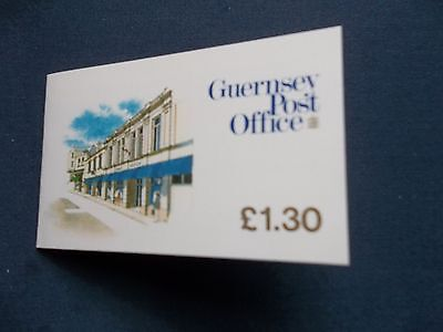 Guernsey Complete £1.30 Booklet Head Post Office St Peter Port Sb28 Stamps