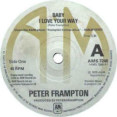 """Baby I Love Your Way / (I'll Give You) Money 7"""" : Peter Frampton"""