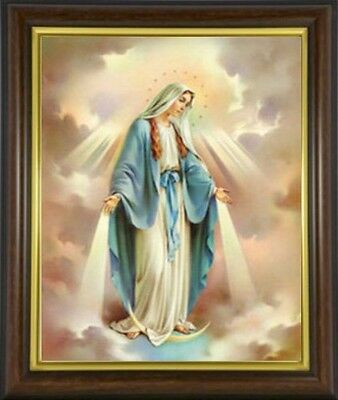 VIRGIN MARY OUR LADY FRAMED PICTURE - 100's OF STATUES AND CANDLES LISTED M10
