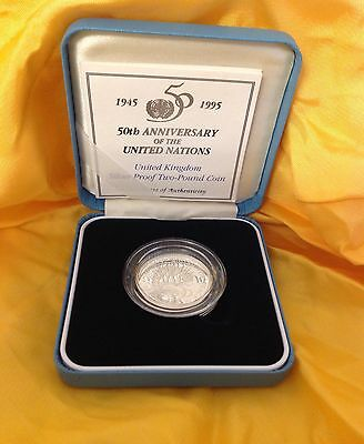 Silver Proof £2 Coin 50th Anniversary of The United Nations