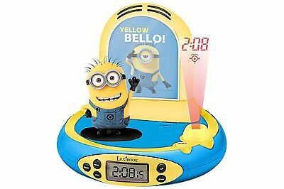 Despicable Me Minions Projector Alarm Clock~NEW & Unopened~