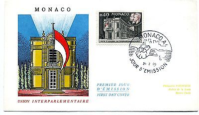 Monaco 1970 Inter-parliamentary Union First Day Cover