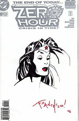 "Franchesco Original Sketch ""Wonder Woman"" Blank Cover"