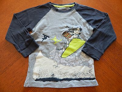 Gymboree *ice All Star* Snow Boarding Dog Gray Top Size 4T