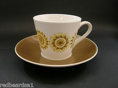 Royal Tuscan Seasons Demitasse Vintage Bone China Coffee Tea Cup Saucer c1960s