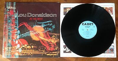 """Lou Donaldson """"At His Best"""" Original US Pressing on Cadet Records Stereo LP"""