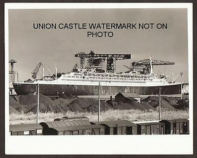 Large Press Photo French Line Ss France Fitting Out St Nazaire Shipyard May 1960