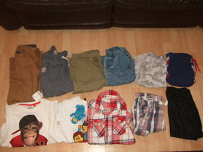 Bundle Of Boys Clothes Tops Shorts Trousers inc 1 BNWT Age 6 7 8 Next, H&M, Lego