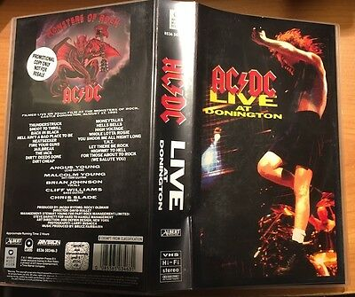 """AC/DC """"LIVE AT DONNINGTON"""" VHS VIDEO 1991 EXC Promo"""