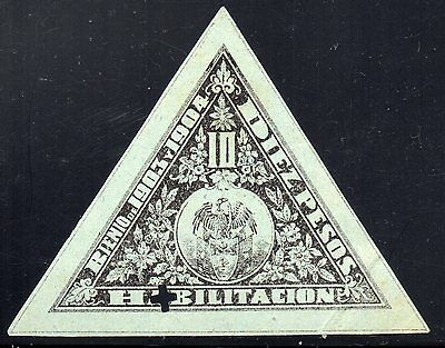 COLOMBIA - 10p TRIANGULAR REVENUE STAMP - 1903/04 - Anyon H42 - Forbin 34a - RR