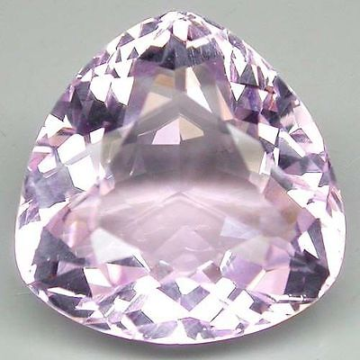 19mm TRILLIANT-FACET LIGHT PASTEL-PINK NATURAL BRAZILIAN KUNZITE GEM (APP £851)