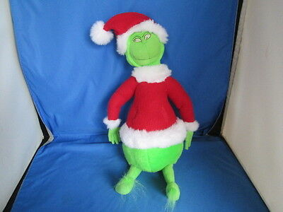"1998 Dr. Seuss The Grinch Who Stole Christmas Santa 18"" Stuffed Plush Toy"