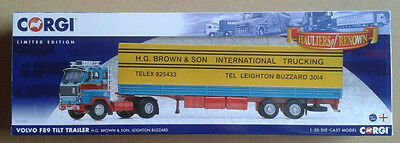 "Corgi - Volvo F89 & Tilt Trailer ""H G Brown"" 1:50 Scale - NEW - LIMITED EDITION"