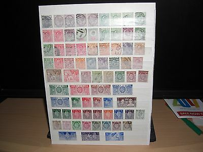 2 Stock Pages Of G.B. Stamps