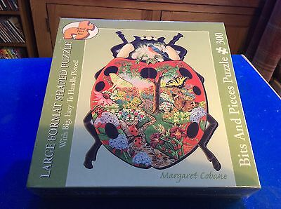 NEW - Bits and Pieces - 300 Large Format Shaped Jigsaw - LADYBUG GARDEN