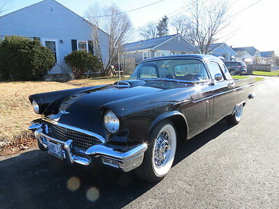 1957 Ford Thunderbird  1957 Black Convertible  Professionally Restored Hardtop LowMiles