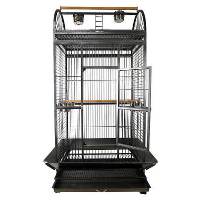 """72"""" Large Bird Parrot Cages Cockatoo Play Top Finch Cage Pet Supplies w/Wheels"""