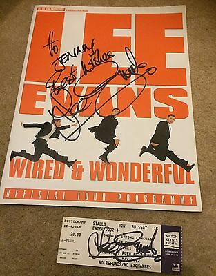 Lee Evans Wired & Wonderful 2002 Autograph Programme & Ticket Children In Need