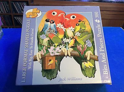 Bits and Pieces 300 Large Format Shaped Jigsaw - LOVE BIRDS (See Description)