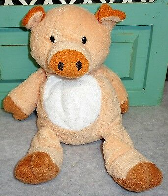 2002 Ty Pluffies CORKSCREW Pig Beanbag Plush 10""