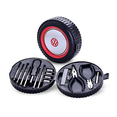 Official VW Car Tools Set in Wheel Shaped Toolbox