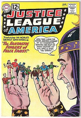 Justice League Of America #10, Dc 1962, Fn+ Condition, 1St Felix Faust