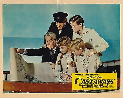 In search of the Castaways ('62) Original UK 10x8 Lobby Card (#3) Hayley Mills
