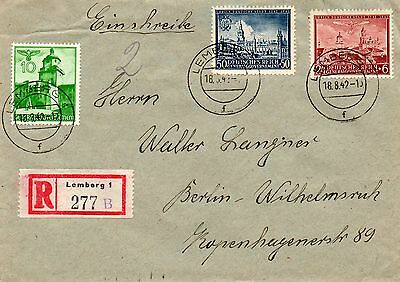 Generalgouvernement, R-Brief, Lemberg - Berlin, 1942 !