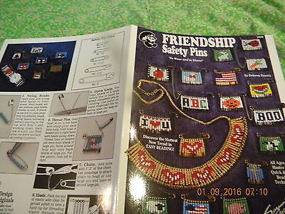 """""""friendship Safety Pins"""" - Quick & Easy Beading Technique For All Ages Patterns"""