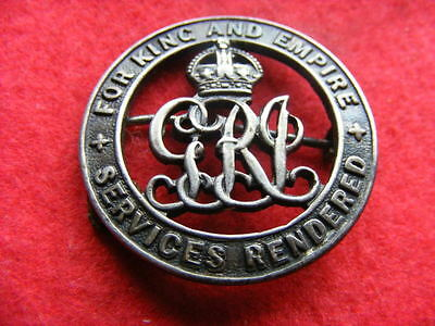 Ww1 Services Rendered Badge