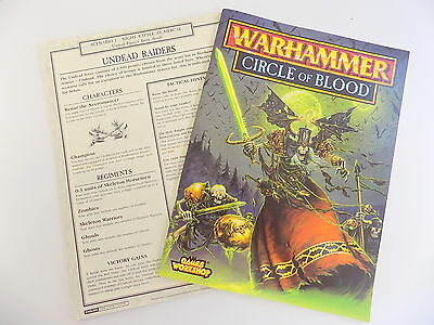 CIRCLE OF BLOOD Classic Warhammer Scenario Pack Bretonnia v Undead Citadel 14178