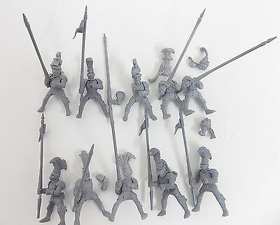 Empire plastic MOUNTED KNIGHTS x10 Complete Unpainted 38451